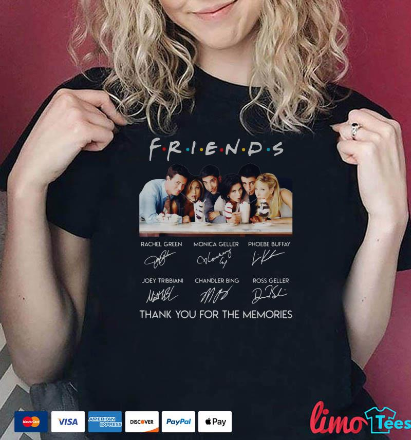 Friends character signature thank you for the memories shirt