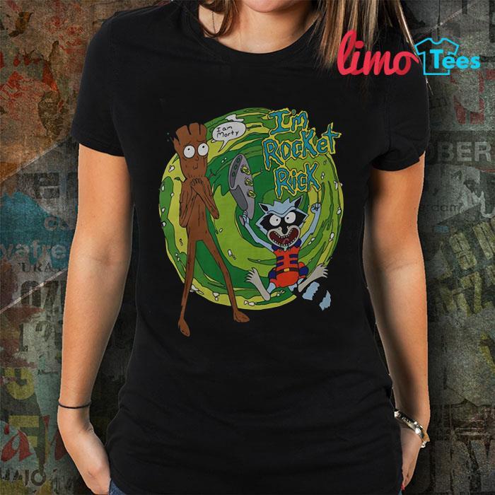Groot and Rick I'm Rocket Rick shirt