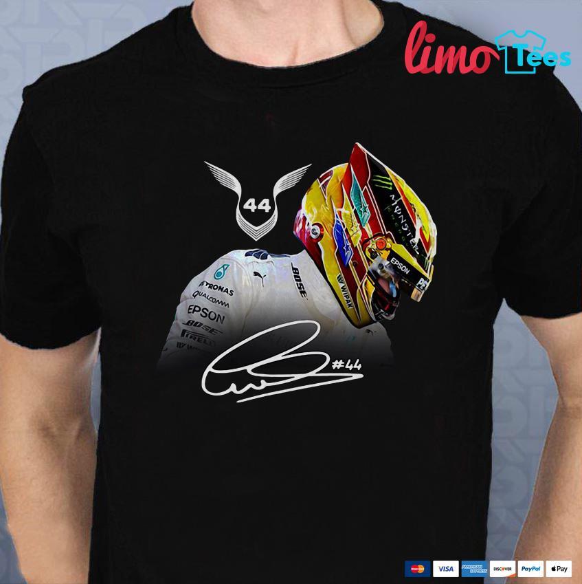 Lewis Hamilton 44 Grand Prix signature shirt