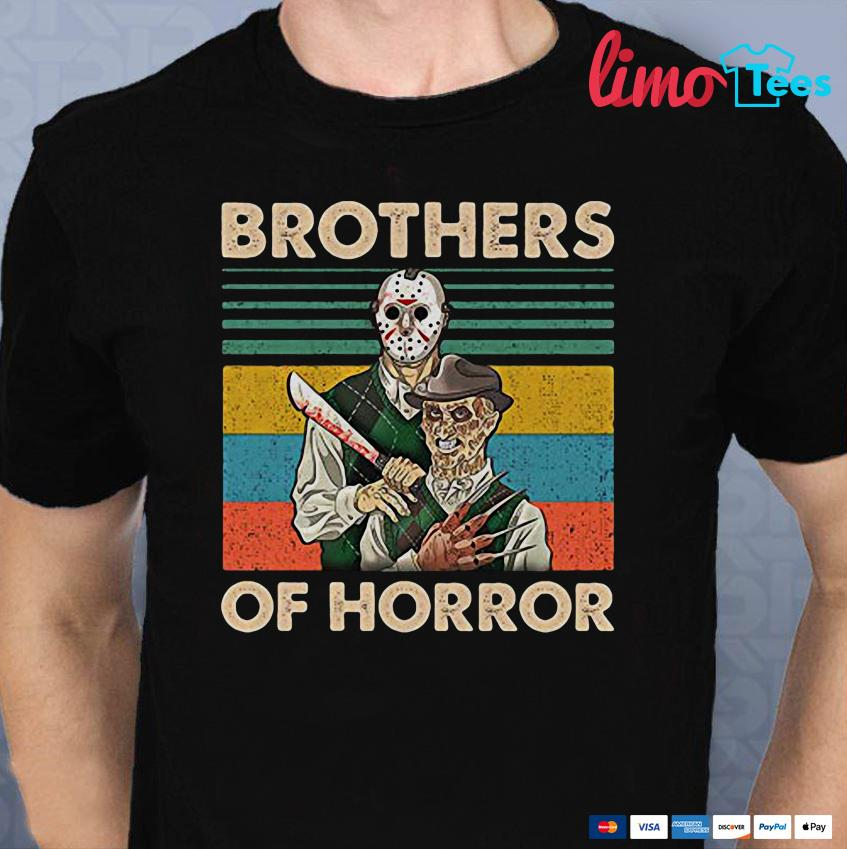 Brothers of Horror Jason Voorhees and Freddy Krueger vintage shirt
