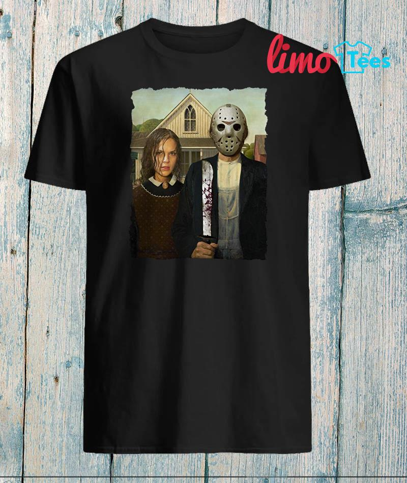 Jason Voorhees and his girlfriend American Gothic shirt