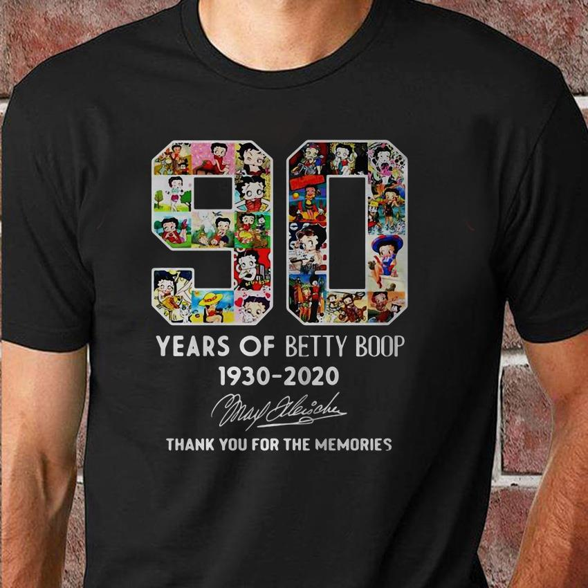 90 Years of Betty Boop 1930-2020 shirt