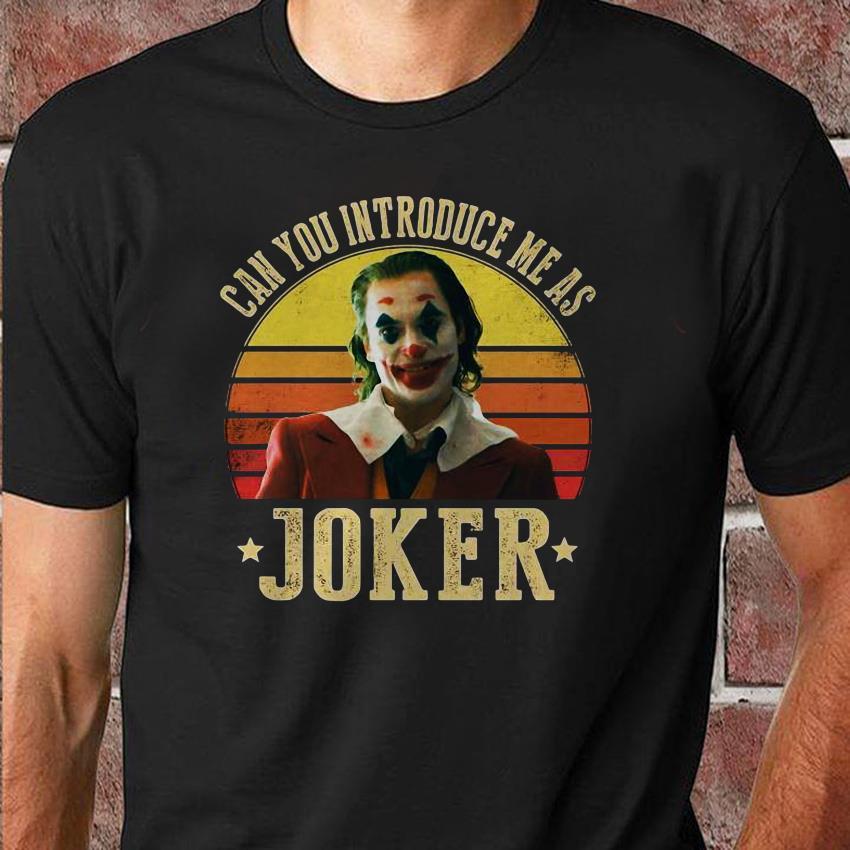 Can you introduce me as Joker retro sunset shirt