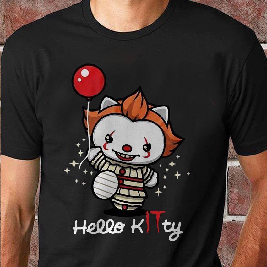 Hello kitty it Pennywise halloween unisex shirt