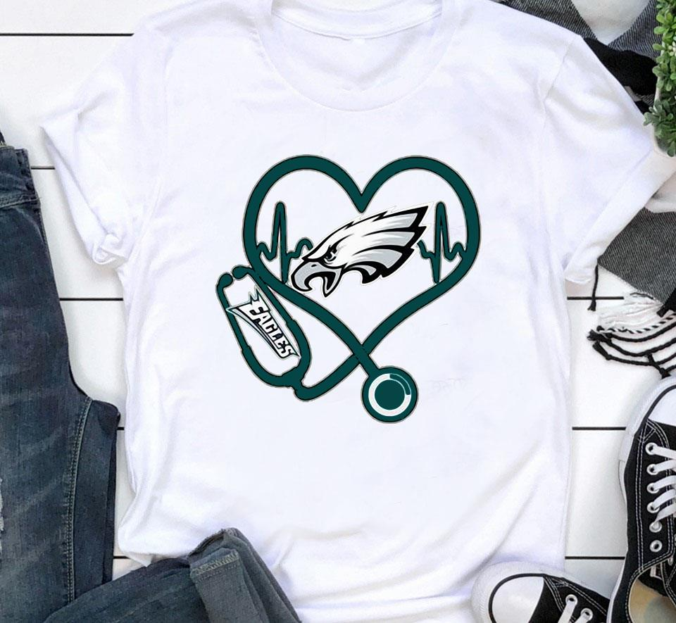 Philadelphia Eagles nurse heartbeat shirt