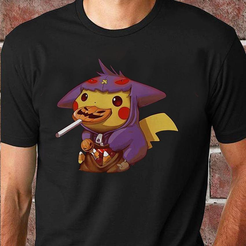 Pikachu gengar halloween trick or treat costume unisex shirt
