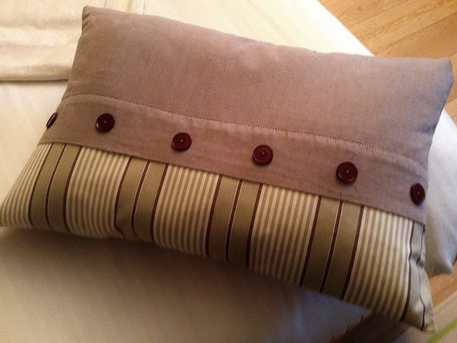 Teinture tissu lin brun et ajout base tissu edredon - Brown dye and addups of a pillowcase fabric