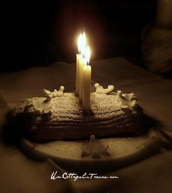 Chrustmas log mocha cake