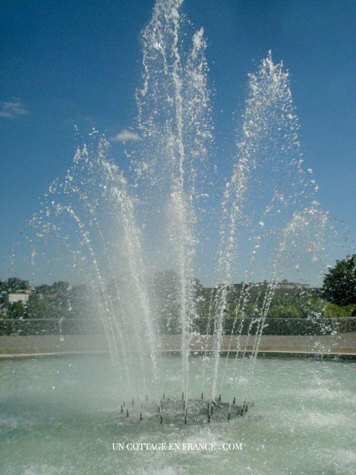 Jet d'eau du jardin de l'évêché de Limoges