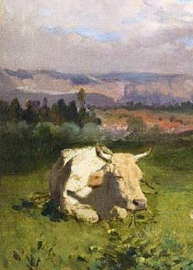 Rosa-Bonheur-Cows-Resting detail 1