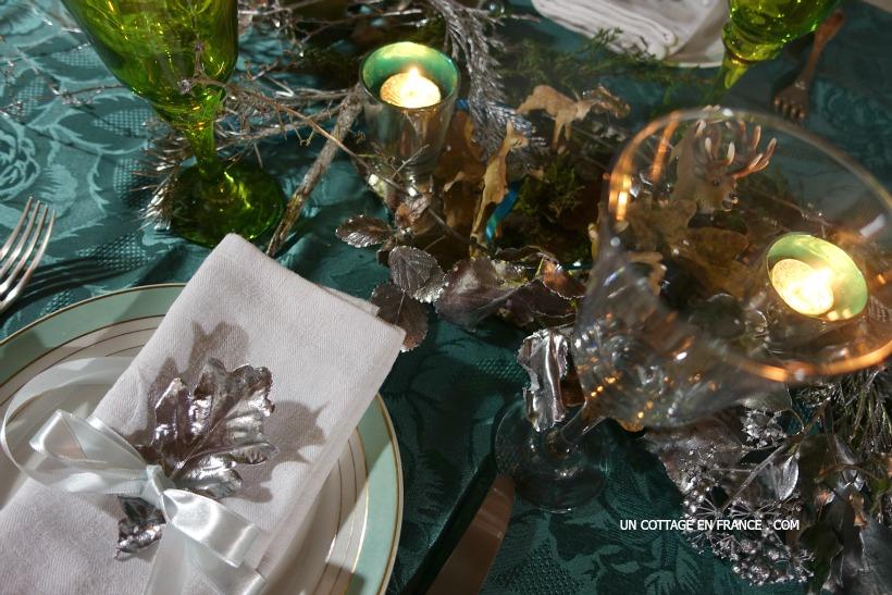 Un centre de table kitch en VERT & BLEU pour les enfants (A kitschy green & blue table decor for children)