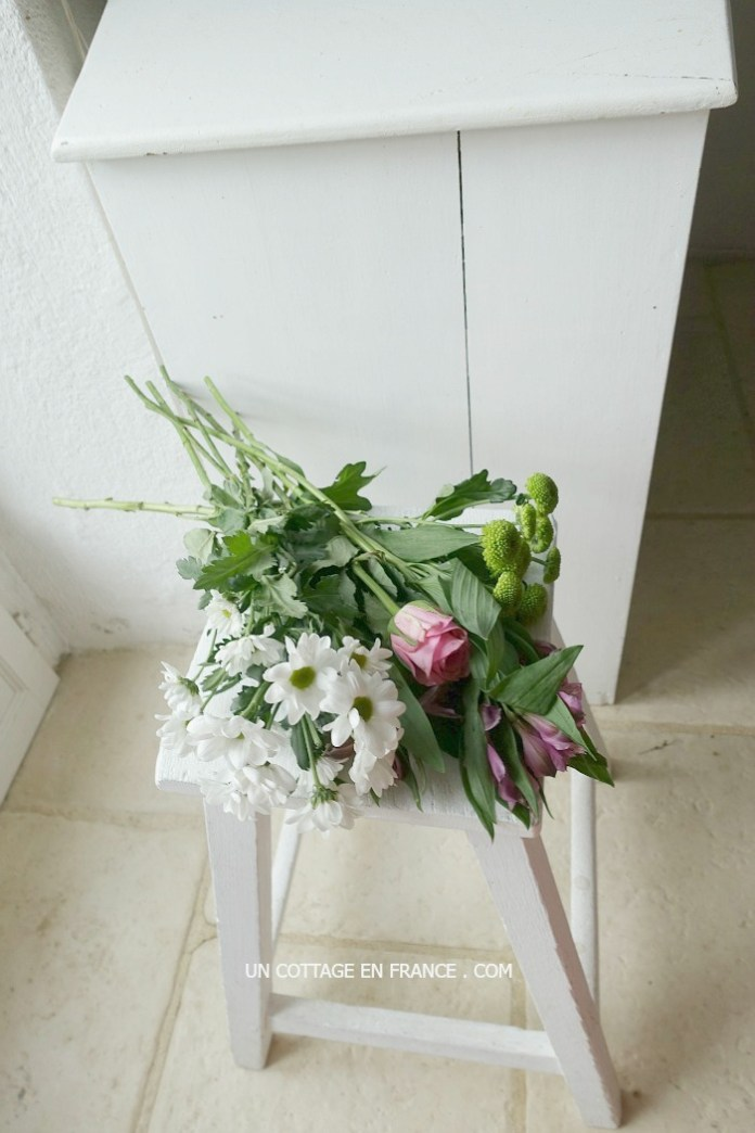 bouquet blanc violet rose 1