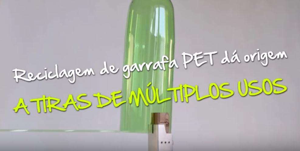 Reciclagem de garrafa PET dá origem a tiras de múltiplos usos