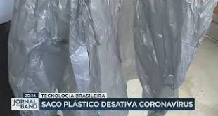 Saco plástico desativa coronavírus….