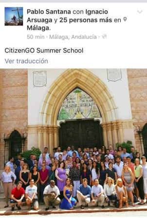 Asistentes a la escuela del guerra del Yunque en Málaga.