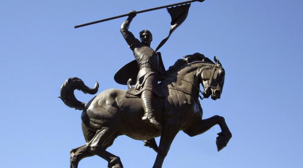 El Cid de Sevilla, estatua realizada en 1927 por la norteamericana Anna Hyatt Huntington.