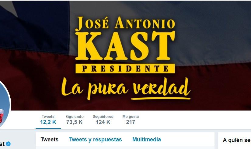 Página de José Antonio Kast en Twitter.