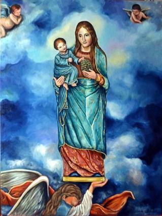 La Virgen del Olvido. Óleo de Mariam Gutiérrez Jerez.