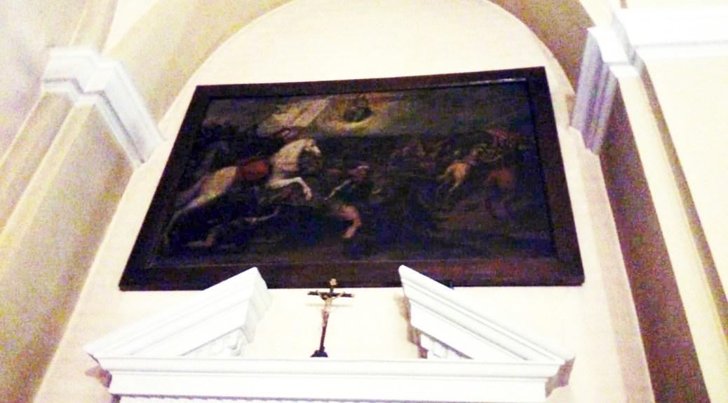 Cuadro de Santiago en la parroquia de San Andrés en Villaverde (Madrid).