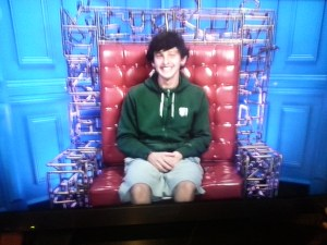 Sam sharing his jokes in the diary room