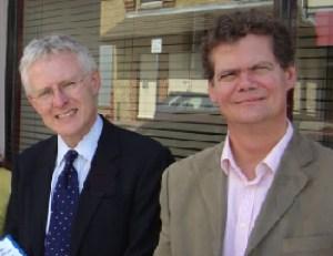 Norman Lamb (left) with Stephen Lloyd