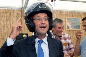 hollande with helmet