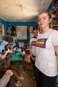 Jessica and Samina at Shadow Mountain Children's Home in Nairobi, Kenya.
