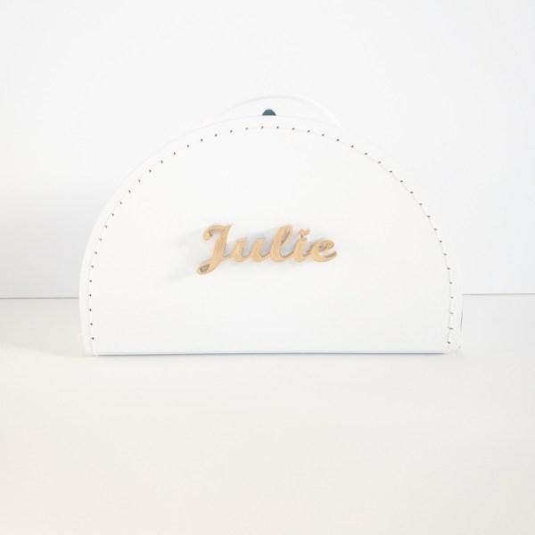 Dětský kufřík se jménem, bílý