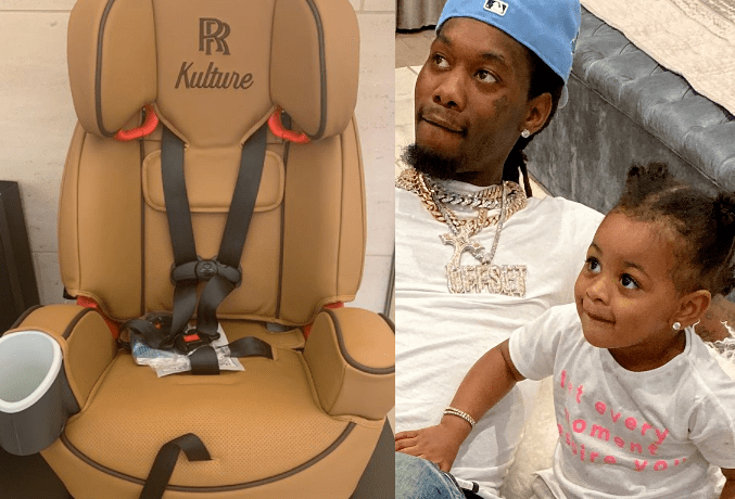 Rapper Offset surprises his 2-year-old daughter with Cardi B with $8,000 car Seat,