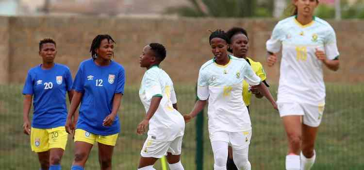 Banyana Banyana showed no mercy to the Eswatini female side as the Neighboring team was thrashed 4 goals to nothing.
