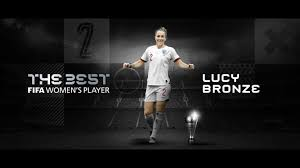 Manchester City defender Lucy Bronze has won best women's player at Fifa's 2020 awards.