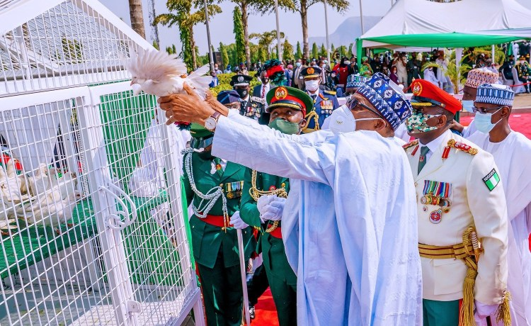Nigeria: Femi Adesina explains why the Pigeons refused to fly after they were released by President Buhari during Armed forces day.