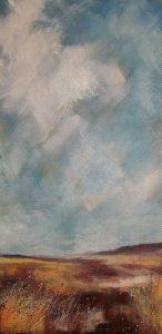 Acrylic and oil on canvas.
