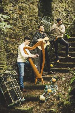 HighTime band members Michael Coult, Ciarán Bolger, and Séamus Ó Flatharta