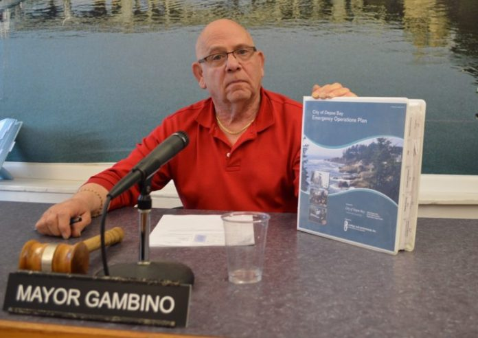 Mayor Robert Gambino is one of two people authorized to set off the city's emergency sirens. The other is the director of public works.