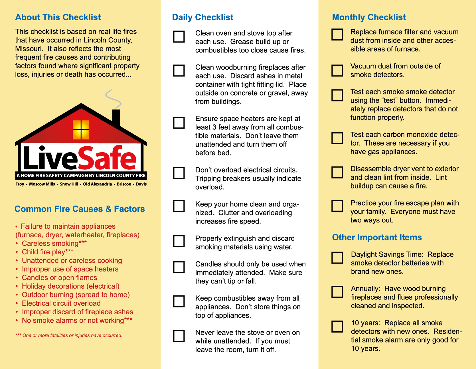 Ultimate List Of Fire Safety Checklists