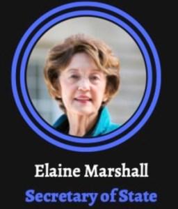 Elaine Marshall for NC Secretary of State