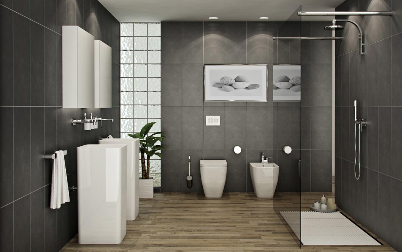 bathroom dark - Bathroom Fitters in Lincoln