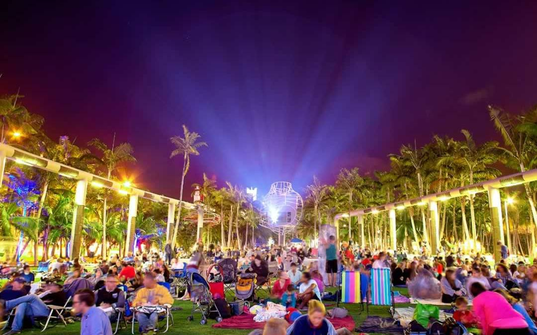 Watch Free Movies At The Miami Beach SoundScape!