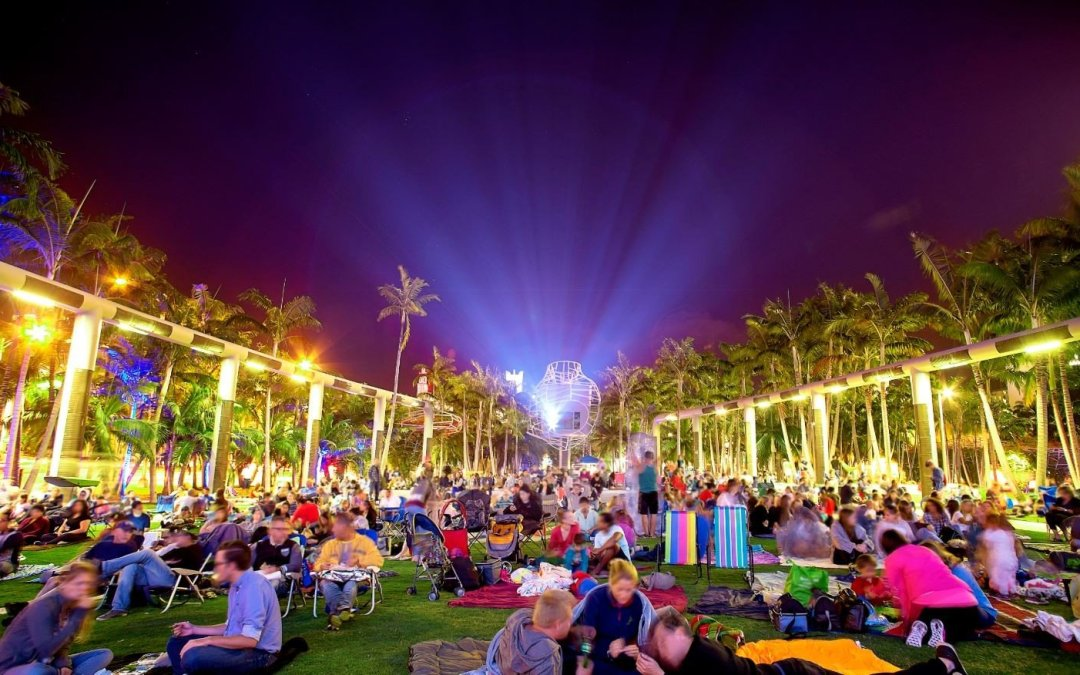 Watch Free Movies Under the Stars on a 7,000-Square-Foot Projection Wall