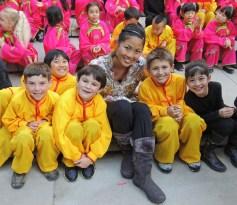 with Students at San Francisco's Chinese New Year Parade, 2013
