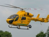 Air ambulance called after car overturns near Skegness