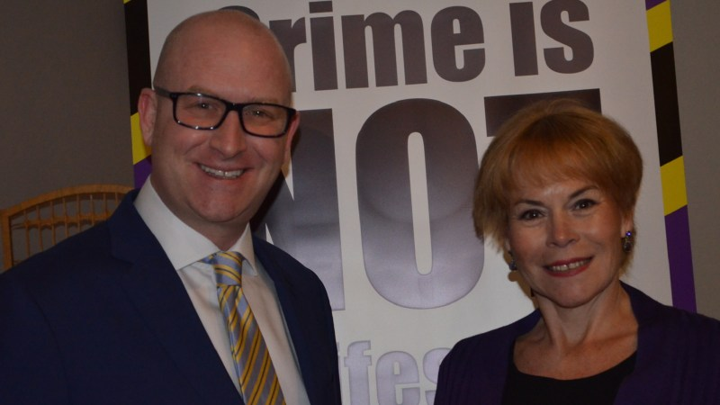 UKIP deputy leader Paul Nuttall with the party's Police and Crime Commissioner candidate for Lincolnshire, Victoria Ayling. Photo: Stefan Pidluznyj for The Lincolnite