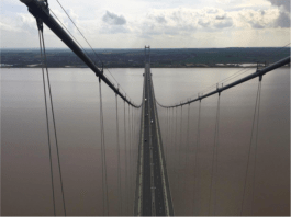 View from the top of Humber Bridge