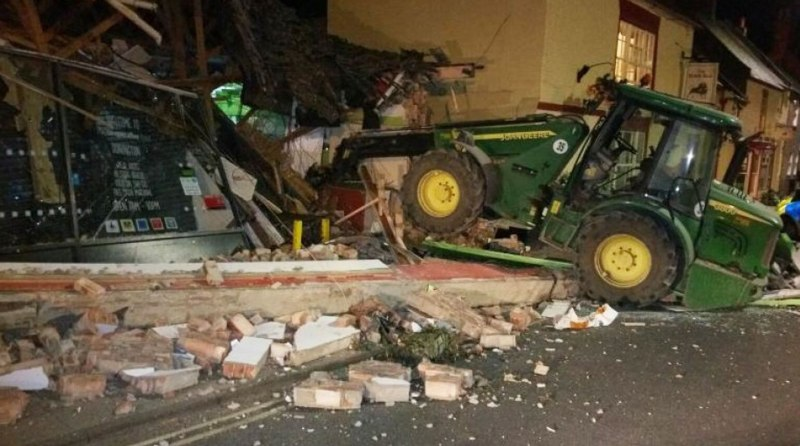 Offenders wrecked the Co-op store in the attempted ATM theft.