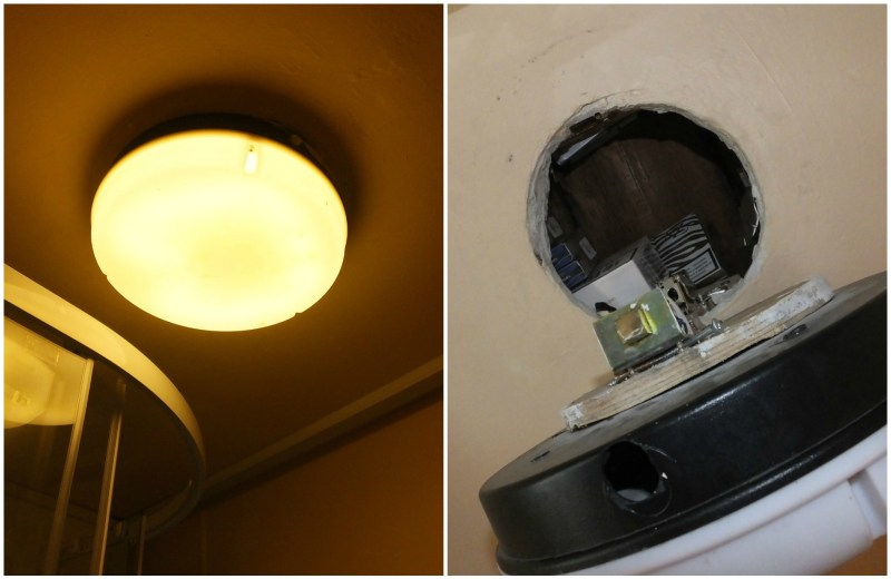 Illegal products were found under light fittings.