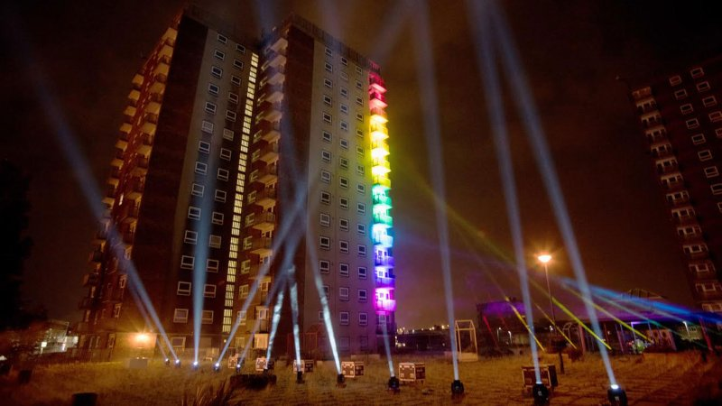 Hundreds gathered to see the Lightworks festival over the weekend.