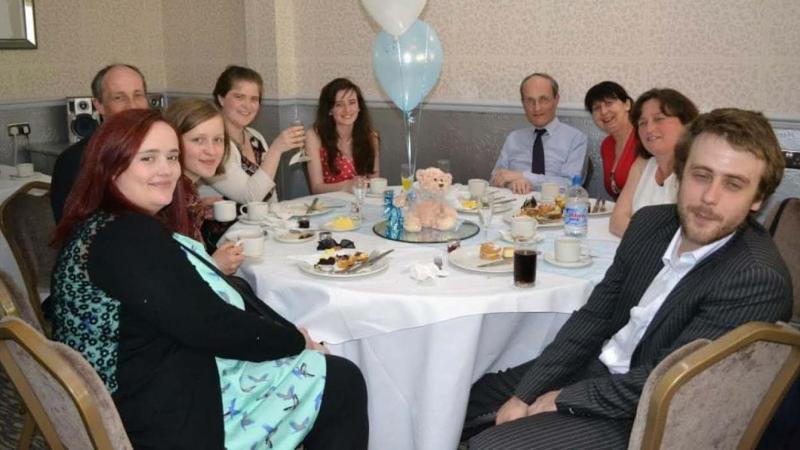 Clare (far left) has lost over seven stone