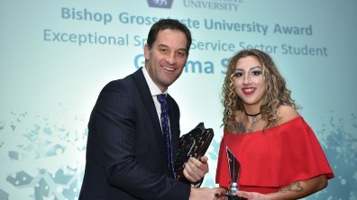 Winner of Exceptional Sport and Service Sector Student, Gemma Sills. Photo: Steve Smailes for Lincolnshire Reporter