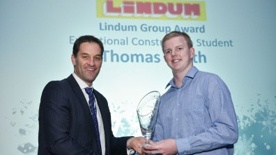 Winner of Exceptional Construction Student and Student of the Year Stonebow Media Award, Thomas Smith. Photo: Steve Smailes for Lincolnshire Reporter